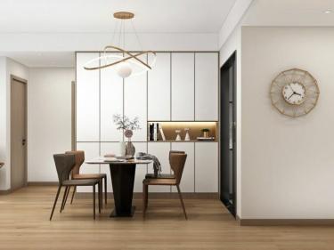 115平颐景湾畔现代风格-原木+白色温暖质感