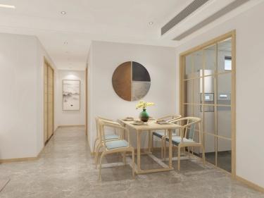 115平大境天成新中式风格-大境天成小区115平米3室新中式装修案例