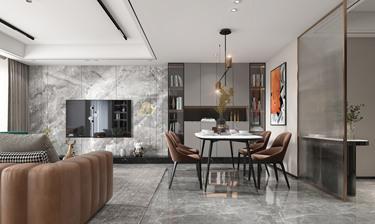 135平3室现代客厅