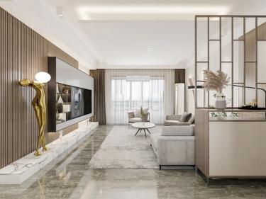 143平如意之城现代风格-精奢住宅,诠释美好生活该有的样子-如意之城小区143平米4室现代装修案例