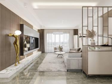 143平4室现代客厅