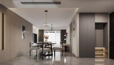 130平3室现代餐厅