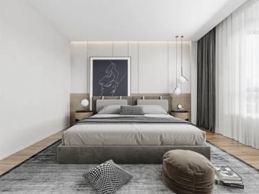 143平4室现代卧室