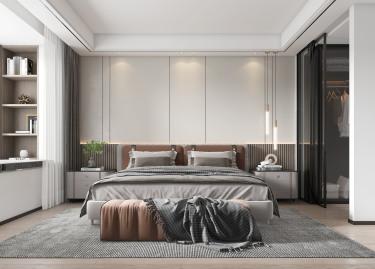 135平3室现代卧室