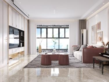 180平阳光和苑现代风格-阳光和苑小区180平米4室现代装修案例