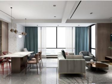200平翡翠河濱雅院北歐風格-翡翠河濱雅院小區200平米3室北歐裝修案例