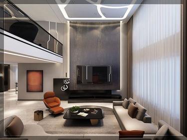 600平名仕山庄现代风格-4室2厅3卫