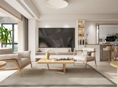 94平湖滨一号日式风格-生活明朗 万物可爱-湖滨一号小区94平米日式装修案例