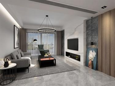 140平阳光水榭现代风格-阳光水榭小区140平米现代装修案例
