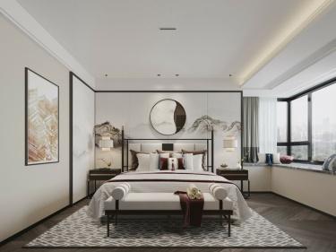 155平雍景湾新中式风格-一种建立在中式风格基础上的新兴风格-雍景湾小区155平米新中式装修案例