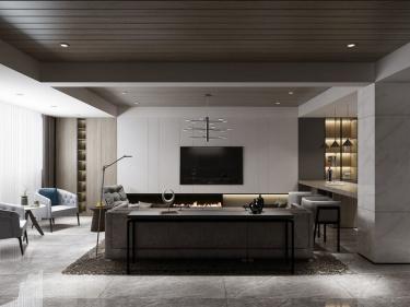 420平明珠城马赛苑现代风格-明珠城马赛苑小区420平米现代装修案例