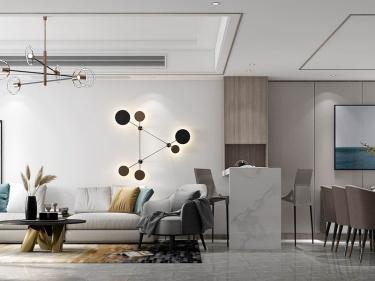 203平香山麓院新中式风格-高级灰色系空间,不期而遇的精致美好