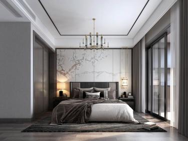 203平香山麓院新中式风格-高级灰色系空间,不期而遇的精致美好-香山麓院小区203平米新中式装修案例