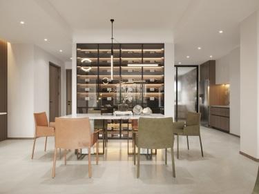 125平秋实e景现代风格-三室二卫一厅一厨