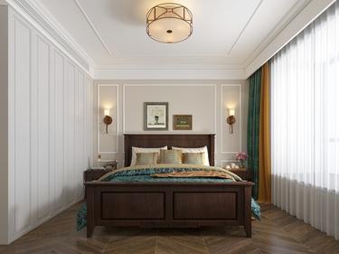 140平荷澜庭美式风格-荷澜庭小区140平米美式装修案例