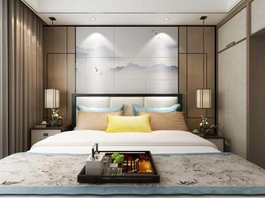130平淞澤家園新中式風格-傳統亦是傳承-淞澤家園小區130平米新中式裝修案例