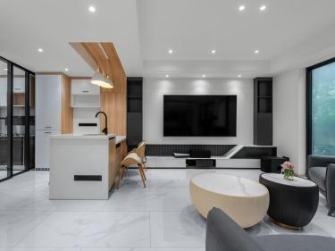 152平璞悦雅筑现代风格-一日慢  |  生活明朗,小确幸-璞悦雅筑小区152平米4室现代装修案例