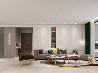 189平中航金城一号现代风格-品味低调的质感生活-中航金城一号小区189平米4室现代装修案例