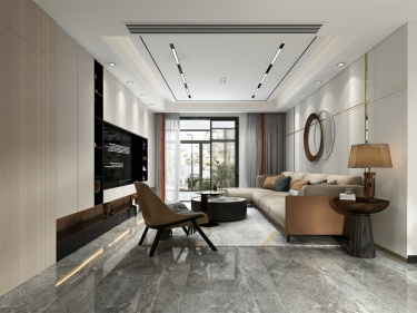 150平白塘壹号现代风格-白塘壹号(白糖景苑)小区150平米3室现代装修案例