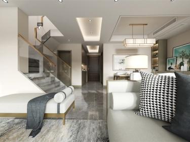 118平國瑞熙墅新中式風格-國瑞熙墅小區118平米3室新中式裝修案例