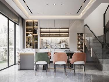 190平独墅苑现代风格-演绎优雅-独墅苑小区190平米现代装修案例