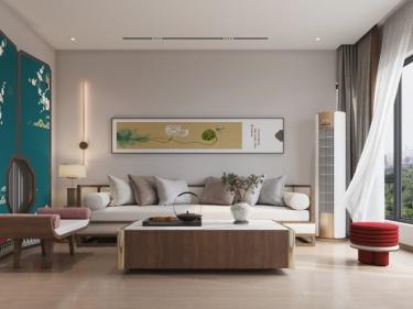 110平平江路民居新中式風格-平江路民居小區110平米新中式裝修案例