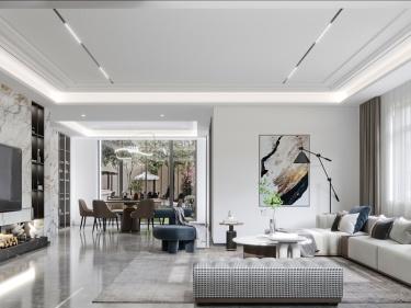 400平觀瀾雅苑現代風格-美學之家-觀瀾雅苑小區400平米現代裝修案例