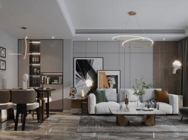 122平香苑东园现代风格—现代暖屋