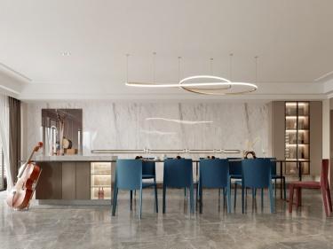 380平水岸秀墅现代风格-水岸秀墅小区380平米现代装修案例