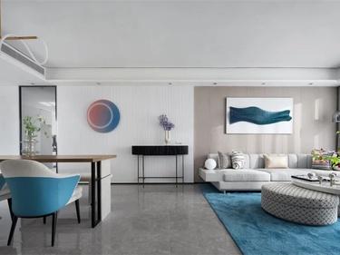 135平橡树湾现代风格-蓝色简约