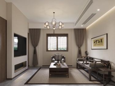 88平北五泾浜新中式风格-北五泾浜小区88平米新中式装修案例