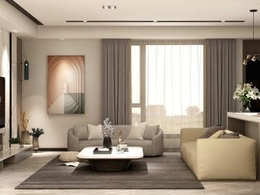 190平景粼天著现代风格-一起经过一个有又一个朝夕-景粼天著小区190平米现代装修案例