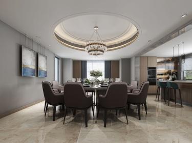 800平传麟湾现代风格-雅致于韵-传麟湾小区800平米现代装修案例